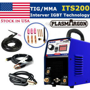 Tig Mma Welding Machien Igbt 200a 3 2 Rod Dc Welder Free Accessories