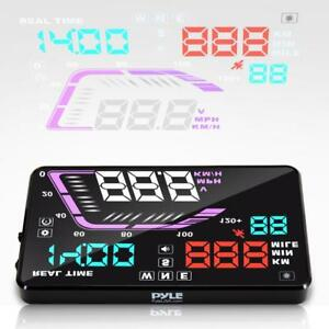 Pyle Heads Up Display Hud Screen Vehicle Speed Gps Compass Hud Monitor System
