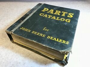 Original John Deere Dealers Parts Catalog Binder W Parts Catalogs For Planters