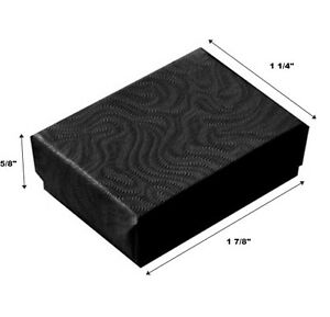 Lot Of 500 Small Black Swirl Cotton Fill Jewelry Gift Boxes 1 7 8 X 1 1 4 X 5 8