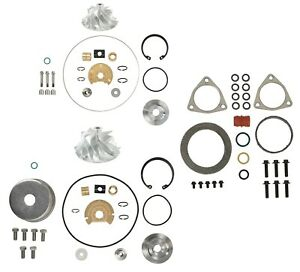 6 4l 2008 2010 Ford Powerstroke Turbo Repair Rebuild Kit Billet Compressor Wheel
