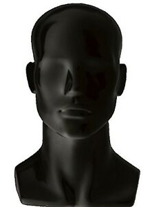 Only Hangers Male Gloss Black Mannequin Head