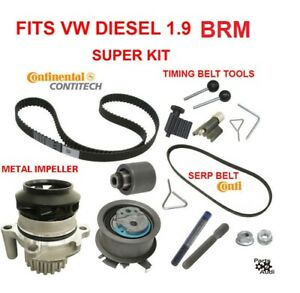 Engine Timing Belt Water Pump Kit With Hardware For Vw Tdi Diesel 1 9 Brm Only