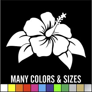 Hawaiian Hibiscus Flower Car Decal Sticker Window Wall Truck Sizes And Colors
