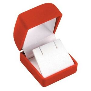 Wholesale Lot Of 144 Red Velvet Post Earring Jewelry Packaging Gift Boxes Sm