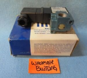 Mac Solenoid Valve 113b 121jb 220 240 Volts Vacuum To 150 Psi 6 5 Watts