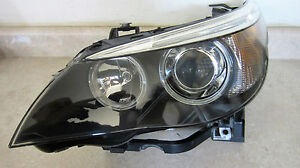 06 07 Bmw 5 Series Driver Afs Xenon Hid Headlight Oem All Intact Used Complete