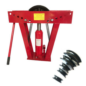 12 Ton Hydraulic Pipe Benders Manual Exhaust Bender Tubing Tube Bending W 6 Dies