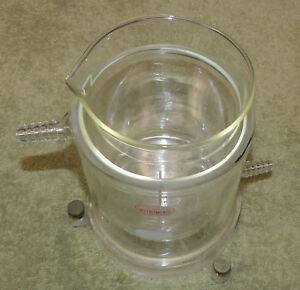 Pyrex Vintage Unique Rare Jacketed Condenser Beaker 1000ml Inner Lab Glass Bath