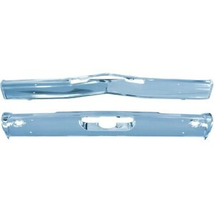 1968 Cutlass 442 Front And Rear Standard Bumpers New Triple Plated Chrome