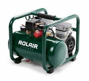 Hand Carry Portable 1hp Air Compressor Rolair Jc10 Plus Ultra Quiet 115 Volt