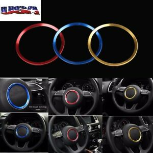 Car Steering Wheel Center Decoration Ring Cover For Audi A3 A4l Q3 Q5 A5 A6l A7