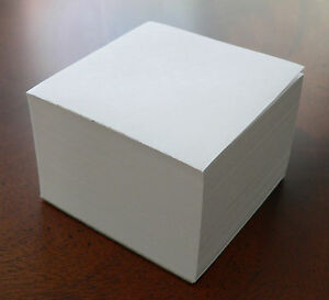 Blank Note Paper Cubes lot Of 12 Glued On 1 Side 3 1 2 X 3 1 2
