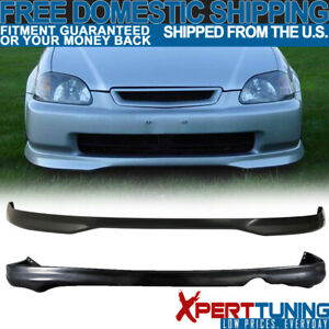 Fit 1999 2000 Honda Civic Ek 2 4dr Polypropylene Front Rear Bumper Lip Spoiler