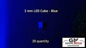 12 Volt Blue 3mm Led Cube With Resistor For Gm Dash Bulb Light Conversion 20 Qty