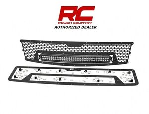 2007 13 Chevrolet Silverado 1500 Rough Country Mesh Grille Kit W 30 Led 70196