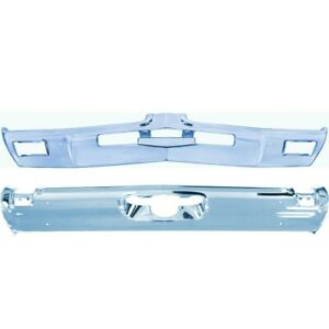 1969 Cutlass 442 Front Bumper And Rear Standard Bumper New Triple Plated Chrome