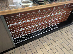 White Wire Display Shelf For Peg Board 6 5 d X 46 L 26 062wh