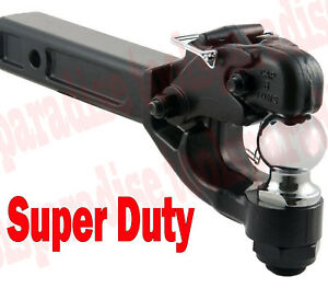 Hd 2 In Trailer Tow Hitch Pintle Ball Fits 2 Receiver 2x2 Solid Steel