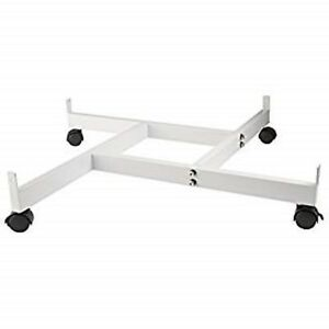 Only Hangers 4 way Gridwall Panel Base With Casters White