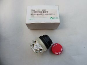 New Square D Emergency Stop Button With 9001 ka1 Mushroom Srs K Contact Block