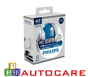 Philips Xenon Effect H7 White Vision Headlights Halogen Bulbs Twin Pack