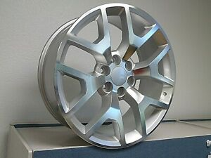 20 Gmc Sierra Honeycomb Wheels Silver Machine Fits For Tahoe Silverado Suburban