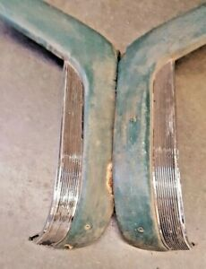 1955 CADILLAC FLEETWOOD FRONT SEAT GARNISH MOULDINGS WITH DIE CAST TRIM  $245.00