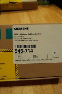 Siemens Modular Building Control 545 714 New Factory Sealed