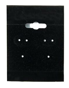 1000 Black Hanging Earring Cards 2 h X 1 1 2 w Jewelry Display With Lip