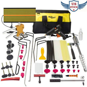 Paintless Dent Removal Tools Pdr Repair Rods Puller Tab Lifter Slide Hammer Kits