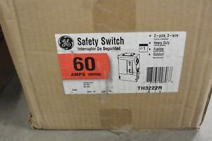 Ge Th3222r 2p 240v 60 Amp Fusible Nema 3r Disconnect Switch New In Box