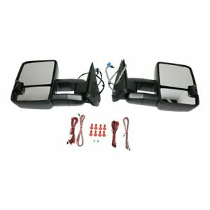 New Set Of 2 Power Mirrors With Smoke Signal For Chevy Silverado 1500 2003 2006