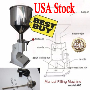 A03 Manual Filling Machine 5 50ml For Cream Shampoo Cosmetic Liquid Filler Us