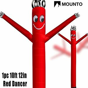 two Day Shipping Mounto 10ft Red Air Puppet Dancer Wind Fly Dancer no Blower