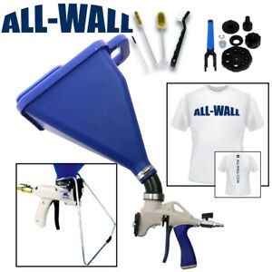 Sharpshooter 2 1 Drywall Texture Hopper Gun W stand Rebuild Kit Brushes Shirt