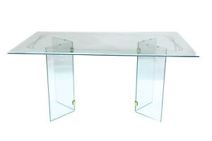 Pace Style Mid Century Glass Dining Table