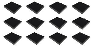 12 New Black Pad Storage Jewelry Display Black Stackable Trays Medals Pins