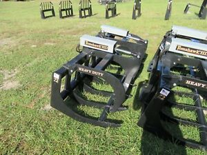 New Skid Steer Hd 72 In Grapple Dual Cylinder Brush Grapple