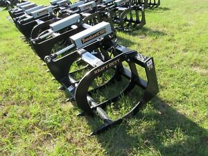 New Skid Steer Hd 78 In Grapple Dual Cylinder Brush Grapple
