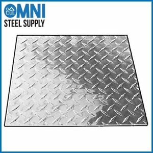 Aluminum 3003 h22 Diamond Tread Plate 063 X 24 X 48 Bright Finish Astm