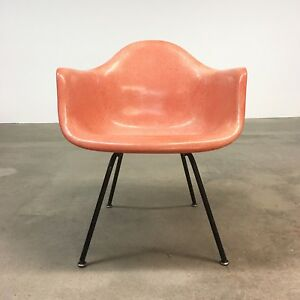 Herman Miller Eames Salmon Armshell Lax Summit Mid Century Lounge Chair