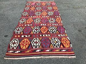 Turkish Handmade Old Kilim 125 57 100 Wool