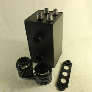 Fit Honda 92 00 Civic 94 01 Acura Integra 10an Black 4 Port Series Oil Catch Can