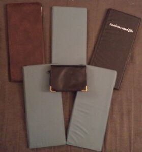 Vintage Lot 6 Hazel Business Card Holders Binders Folders Organizer File