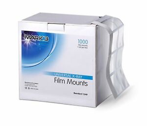 Dental X ray Film Mounts Universal Roll 1000 pk Mark3