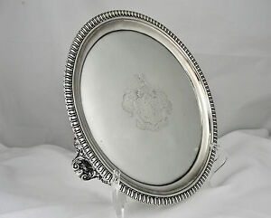 An Early George Iv Sterling Silver Salver Paul Storr Of Welsh Interest