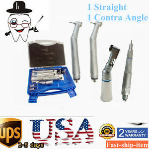 Dental Nsk Pana Max Style Air Motor Turbine High low Speed Handpiece Kit 4 Holes