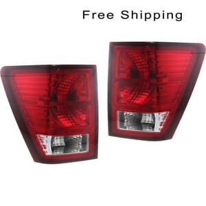 Tail Lamp Assembly Set Of 2 Pair Lh Rh Side Fits Jeep Grand Cherokee 2007 2010