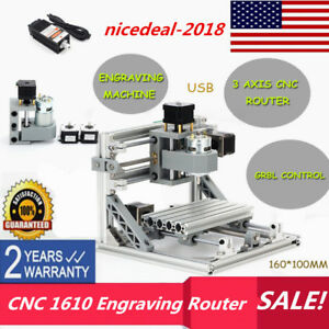 3 Axis Cnc 1610 Engraving Machine Engraver Router 500mw Laser Head Us